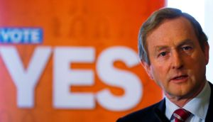 Taoiseach  Enda Kenny appeared far more enthused by the same sex marriage referendum than the vote in the age of presidential eligibility. Photograph: Reuters