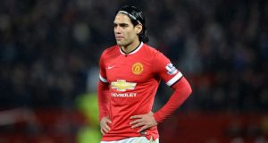 Radamel Falcao is set to leave Manchester United after an unsuccessful loan spell that has been hampered by injury. Photo: Martin Rickett/PA Wire