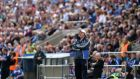 Monaghan manager Malachy O'Rourke watches  from the sideline of Kingspan Breffni Park. Photograph: Ryan Byrne/Inpho