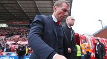 Brendan Rodgers manager of Liverpool looks on after the Barclays Premier League match between Stoke City and Liverpool at Britannia Stadium. Photo: Dave Thompson/Getty Images