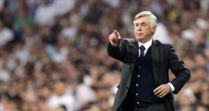 Carlo Ancelotti is expected to be fired by Real Madrid this week, with the Italian to take a year out in order to have an operation on his back. Photograph: Afp