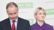 Fianna Fáil leader Micheal Martin and FF Senator Averil Power: they clashed over selection of candidates in constituency of Dublin Bay North. Photograph: Gareth Chaney Collins