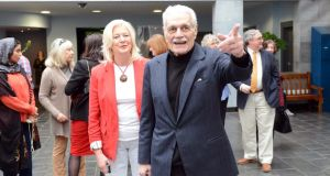 Omar Sharif visiting the Chester Beatty Library for a screening of 'Lawrence of Arabia', as part of the Dublin Arabic Film Festival in 2014. File photograph: Eric Luke/The Irish Times