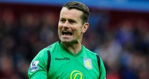 Aston Villa goalkeeper Shay Given has played in every round of the FA Cup this season. Photograph: Stu Forster/Getty Images