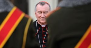 "The Vatican secretary of state, Cardinal Pietro Parolin, has called the result of the Irish same-sex marriage equality referendum a ""defeat for humanity"""