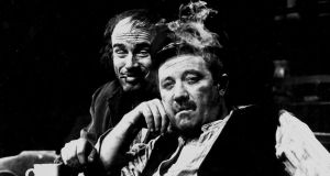 Landmark production: John Kavanagh as Joxer and Donal McCann as Captain Boyle in Joe Dowling's 1986 production of Juno and the Paycock, by Seán O'Casey. Photograph:  Tom Lawlor