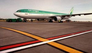 Up and away: Aer Lingus  stock closed  yesterday 1.5 per cent up at €2.43. Photograph: Alan Betson