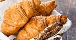 Croissants: on the menu at the Department of Public Expenditure and Reform but neatly chopped in half