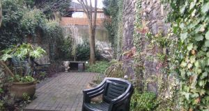 Garden of 17 Leeson Park Avenue, Dublin 6 before it was upgraded and landscaped