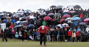 RORY WOES: World number one Rory McIlroy had an awful day at Royal County Down, ending the first round last in the field. Photo: Matt Makey.