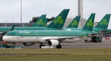 In Dublin, Aer Lingus ended the day at €2.44, a rise of 0.37 per cent. Photograph: Paul Faith/AFP/Getty Images