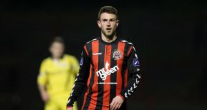 Bohemians  Robbie Creevy: his two goals proved pivotal at Dalymount Park. Photograph: Ryan Byrne/Inpho