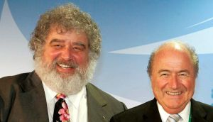 A file picture from  2005 of Fifa president Joseph Blatter and Chuck Blazer, the former general secretary of Concacaf. Photo:  Frank May/EPA