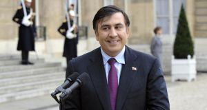 Mikheil Saakashvili: after leading Georgia's 2003 Rose Revolution, he fought graft and bureaucracy and attracted foreign investors to an economy which, for a few years, was one of the most dynamic in the world – achievements that Ukraine is desperate to match. Photograph: Gerard Cerles/AFP