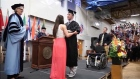 Paralysed student walks at graduation after 4 years of rehab