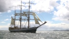 A view from the sea as Tall Ships arrive into Dublin port