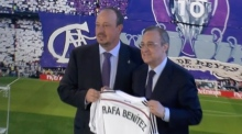 Rafa Benitez is unveiled at Real Madrid