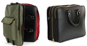 LeTrav Convertible Cases combine water-resistant backpacks with smart leather cases.