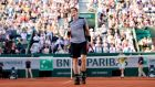 Andy Murray celebrates after beating Spain's David Ferrer in the quarter-final of the French Open at Roland Garros in Paris. Photograph: Caroline Blumberg/Epa