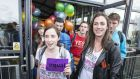 Members of 'Boat to Vote', a group of Irish people returning to Dublin from London to vote in the May 22nd same-sex marriage referendum. Photograph: Dave Meehan