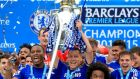 Chelsea's John Terry celebrating with the Premier League trophy Photograph: PA