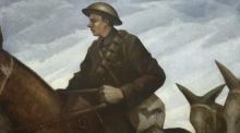 'Mule Team' by Nevinson was painted in late 1917 following his return to London from a four-week tour of the trenches in his capacity as an official war artist