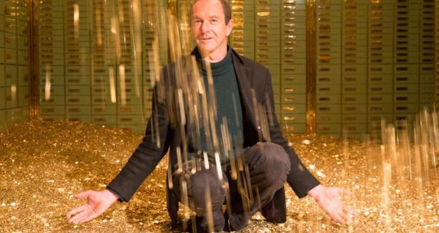 Enno Schmidt, of the Swiss Basic Income campaign, who had eight million coins dumped at the Swiss parliament to launch a referendum bid