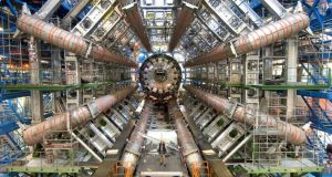 The Large Hadron Collider (LHC) creates beams of particles and speeds them up to almost the speed of light before letting them crash into one another. Photograph:  Cern/PA Wire