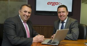 Ergo chief executive John Purdy,and iSite founder Dave Muldoon