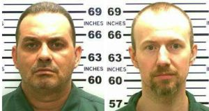The New York State Police said the inmates, convicted murderers Richard Matt (48) and David Sweat (34), had escaped from the Clinton Correctional Facility using power tools. Photographs: New York State Police via The New York Times.