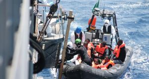 LÉ Eithne Rescue Operations in the Mediterranean: Photograph: Irish Defence Forces