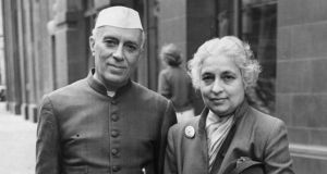 Poetic ties: Jawaharlal Nehru with his sister Vijaya Lakshmi Pandit, the first Indian woman to hold a cabinet post and the first woman president of the United Nations general assembly (as well as a former ambassador to Ireland). She said how important WB Yeats's work had been to her family during the struggle for Indian independence. Photograph: Central Press/Getty