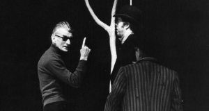 Dramatic legacy: Samuel Beckett directing Waiting for Godot in Berlin in 1975; it is surely impossible to encounter the stark setting of WB Yeats's Purgatory – a road, a tree – without thinking of Beckett's play. Photograph: Heuer/Ullstein Bild via Getty