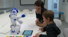 Reading, writing, robots: children learn to write by teaching robots