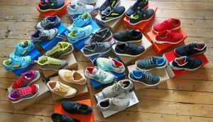 Sole mates: 'I'm not just buying a running shoe, apparently, I'm buying a set of car tyres.' Photograph: Getty Images
