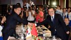 China's commerce minister Gao Hucheng (right) shakes hands with South Korea's trade, industry and energy minister Yoon Sang-Jick during their meeting on a bilateral free trade agreement recently. Photograph: Reuters/Yang Dong-uk