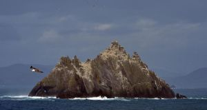 Skellig Michael.  Star Wars filming may return to the Skelligs this year, following last summer's controversial use of the Unesco world heritage site. Photograph: David Sleator