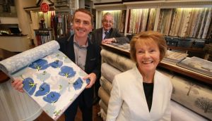 Brian P Nolan (centre), managing director of Brian S Nolan interiors store in Dún Laoghaire, Dublin with founder Brian S Nolan and Rosaleen Nolan. Photograph: Nick Bradshaw