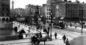 """The more elegant Dubliners rarely cross the O'Connell Bridge unless they are on their way to a race meeting in the Phoenix Park or being carried, toes turned up, upon their final journey to Glasnevin"" – Douglas Goldring, 1917"