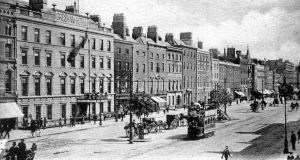 Sackville, now O'Connell, Street: The wealthy came to the city to work, to shop or, in the evening, to enjoy the many and varied forms of entertainment on offer in the city centre. By night, they returned to their comfortable suburbs, leaving the city to the poor