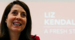 "Liz Kendall: has been tagged by some critics as ""the most Blairite"" of the candidates because of her assertions that Labour has to be in the political centre ground if it is to win back power. Photograph: Darren Staples"