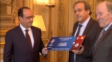 Platini kicks off year long countdown to Euro 2016