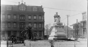 New Orleans is home to the first public monument in the United States to honor a woman – the life-size statue of the great 19th century entrepreneur and philanthropist, Margaret Haughery, an illiterate, widowed immigrant from Co Leitrim and life-long resident of the city. Photograph: Library of Congress