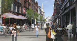Suffolk Street, as envisaged in the Dublin City Centre Transport Study document, published today.