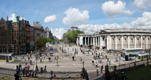 Dublin's College Green as envisaged in the Dublin City Centre Transport Study document, published today.