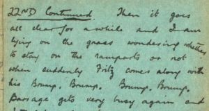 Extract from the diary of Albert Woodman, who was stationed in Dunkirk during the last days of the first World War.