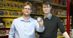Pointy cofounders Charles Bibby and Mark Cummins  say shops worldwide have similar problems to the Irish retailers, which means their start-up can be scaled globally. Photograph: Colm Mahady/Fennells