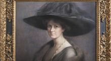 'Portrait of a Lady with a Large Hat' by Charlotte Blakeney Ward
