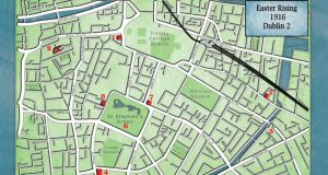 Key locations: the eight sites in Dublin 2 are marked in red. Map: Tomás Brógáin