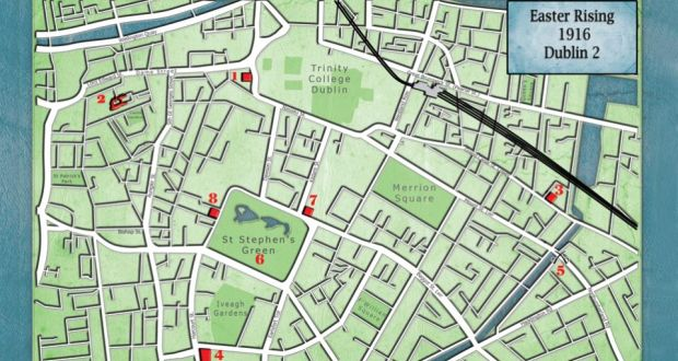 1916 Rising Dublin 2 street map